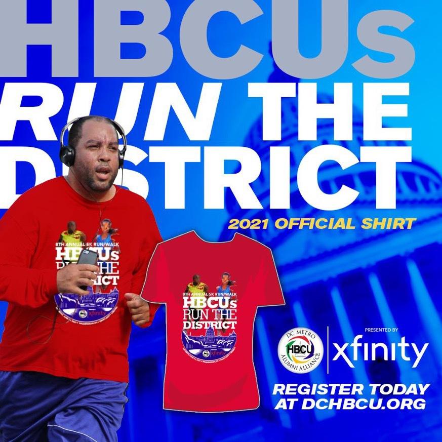 HBCUs Run The District_2021 Official Shirt